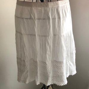 LINED White Skirt made in India